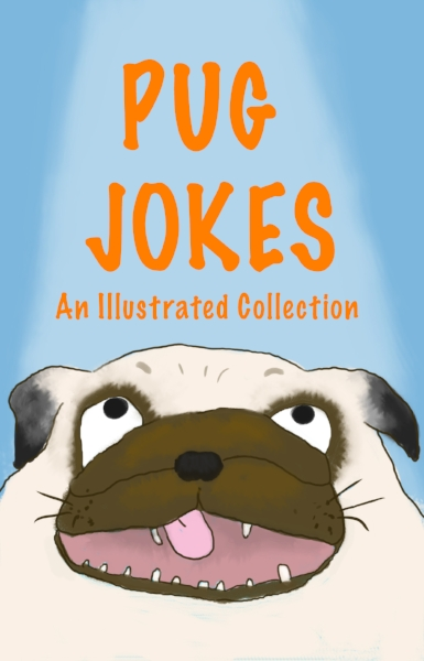 - Why do Pugs hate the rain? They're afraid of stepping in a poodle!What do Pugs call empty jars of cheese whiz? Cheese WAS!Move over Rover, pugs are taking over!Pug Jokes is a hilarious collection of more than 30 jokes and over 80 beautifully illustrated color pages, for and about pugs! Readers will have a blast with this collection of clean jokes, one liners, fart humor, and puns that you'll just have to share with friends and family.This is the perfect gift for pug lovers, dog enthusiasts, and anyone up for canine humor at its very best. Your search for the best book of pug jokes is over! This book is guaranteed to have you, and your pug rolling on the floor begging for more.So TREAT yourself to this side-splitting experience!AVAILABLE ON AMAZON