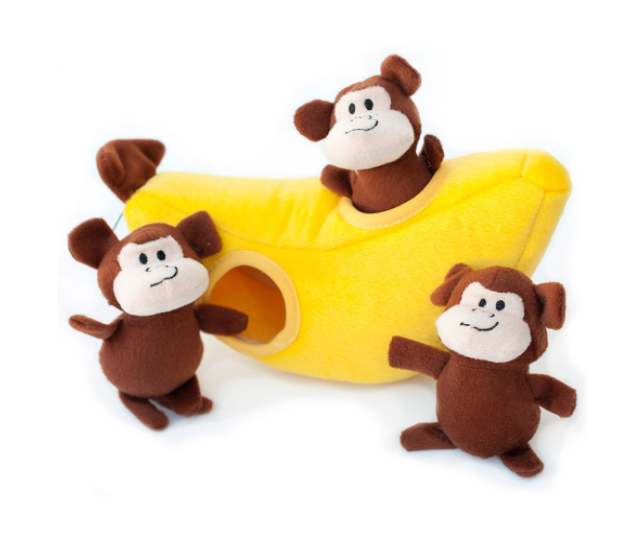 Hide and Seek Pug Toy Monkies