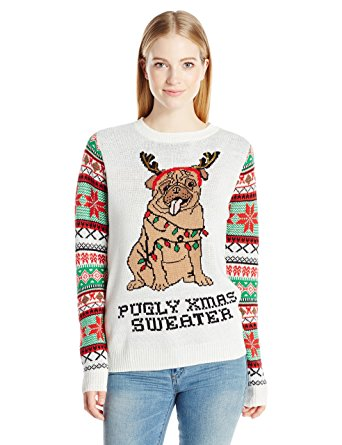awesome pug christmas sweater