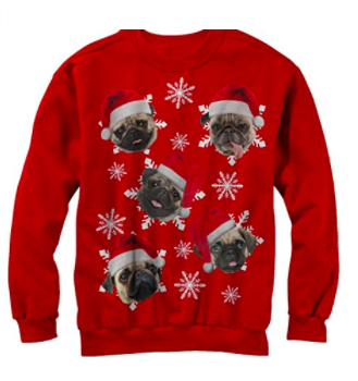 christmas ugly pug sweater