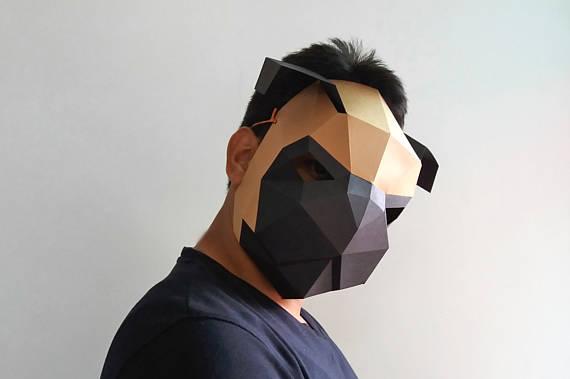 Weird Pug Paper Mask