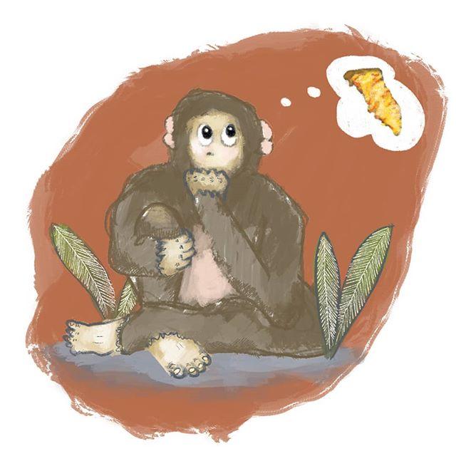 What do bigfoot think about? . 🐻 . .  #pizzadrawing #pizzacartoon #pizzameme #pizza #comic #illustrationartists #childrensillustrator #childrensbook #jokes #cartoonjokes  #funnycartoon #cartoonjoke  @comics @igcomicstore #comicmeme #meme #procreate #comicstrip #illustration #illustrationdaily #cartoon #comicart  #instacomics #digitalart #kidlit #kidlitart  #bigfoot #bigfootsighting #sasquatch @weloveillustration @children_illustrations @magical.illustrations @illustration_best @characters.design