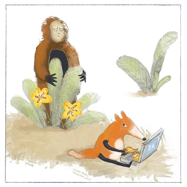 Bigfoot creeping . 🐻🍕🦊 . #pizzadrawing #pizzacartoon #pizzameme #pizza #comic #illustrationartists #childrensillustrator #childrensbook  #cartoonjokes  #funnycartoon #cartoonjoke  @comics @igcomicstore #meme #procreate #comicstrip #illustration #illustrationdaily #cartoon #comicart  #instacomics #digitalart #kidlit #kidlitart  #fox #bigfoot #bigfootsighting #foxes #foxybrown