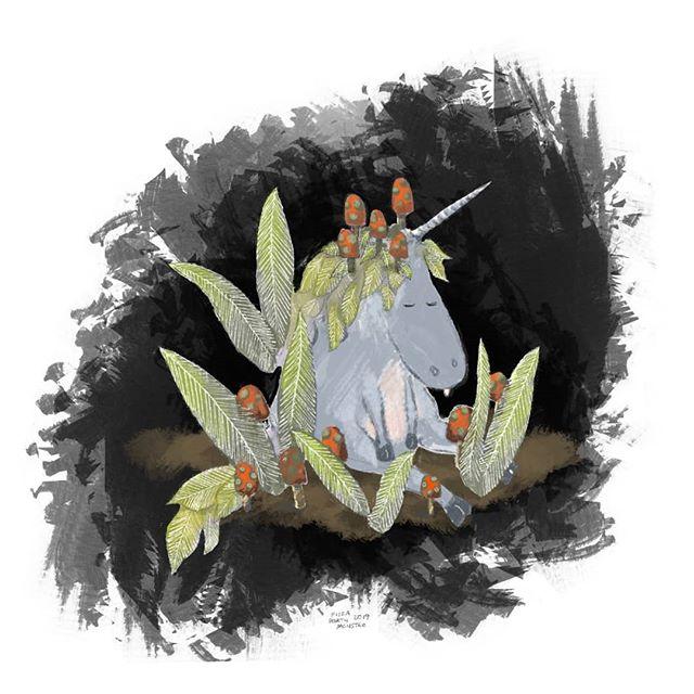 Wed = hump day . Sleepy Unicorn Eeyore 🦄🍄🦄 . #comic #illustrationartists #childrensillustrator #childrensbook #jokes #cartoonjokes  #funnycartoon #cartoonjoke  @comics @igcomicstore #comicmeme #meme #procreate #comicstrip #illustration #illustrationdaily #cartoon #comicart  #instacomics #digitalart #kidlit #kidlitart #unicorn #fairy #mushroom #fairyring #fairytale #fairyvillage #eeyore #unicorns  @weloveillustration @children_illustrations @magical.illustrations @illustration_best @characters.design