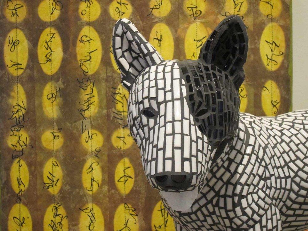 Iggy, mosiac bull terrier