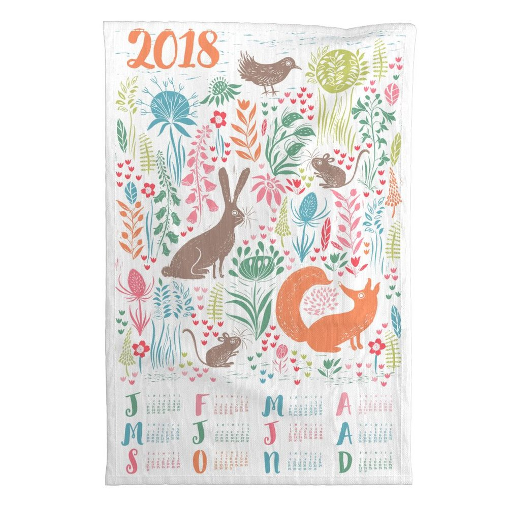 3rd place winner by Jill in Spoonflower's 2018 Calendar competition