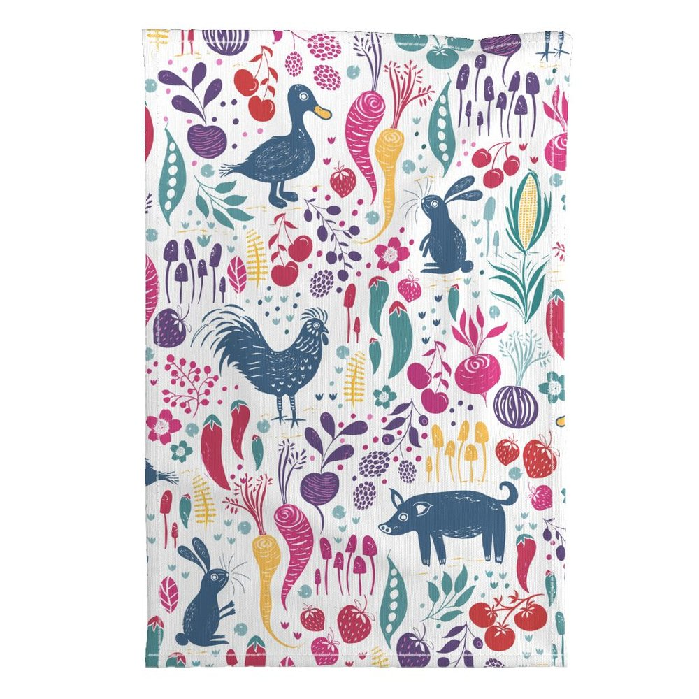 6th place by Jill in the Farm to Tea Towel challenge