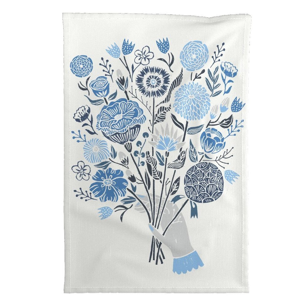 Botanical Tea Towel by Andrea Lauren, placed 4th in Botanical Block Print
