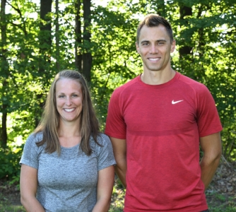 Coaches Emily and Ryan Holliday