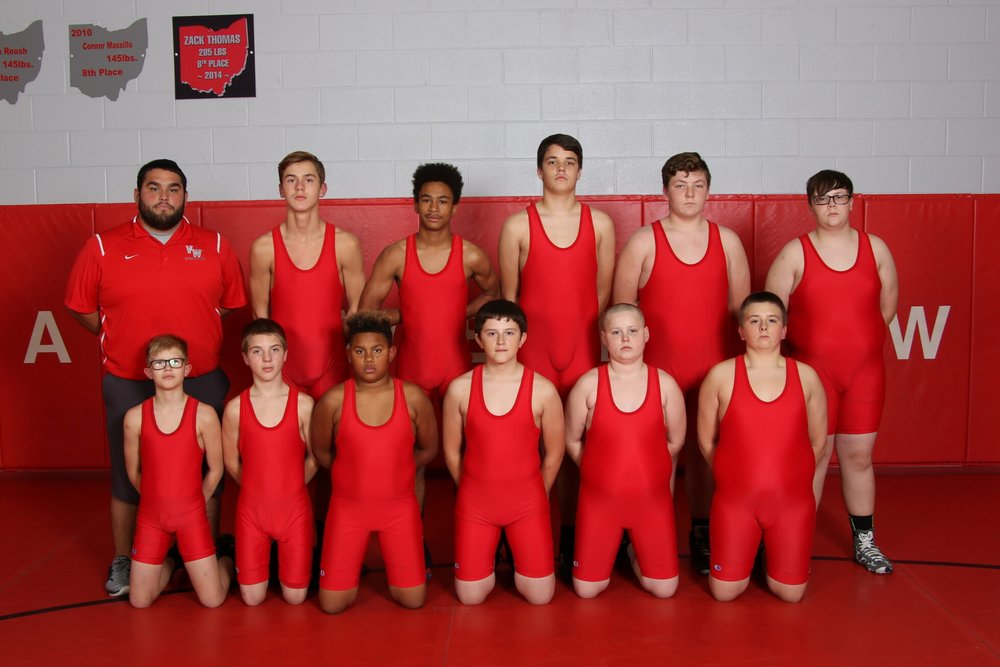 Left to Right: Row 1:  Isaac Sully, Kaleb Flory, Noah Whitney, Jacob Geething, Hunter Lowe, Landon Nowak Row 2:  Coach Contreras, Jacob Sealscott, Arnez Riley, Bobby Spath, Eli Kline, Ethan Sheckels