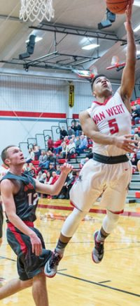 Jacoby Kelly scored 27 points against Columbus Grove.Bob Barnes/Van Wert independent