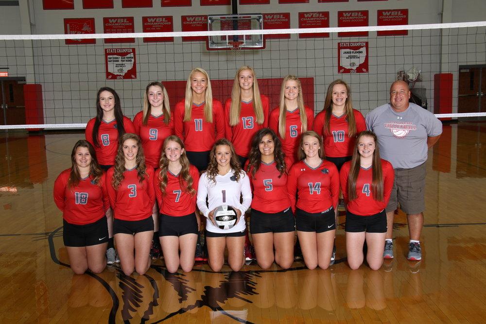 Varsity volleyball team photo