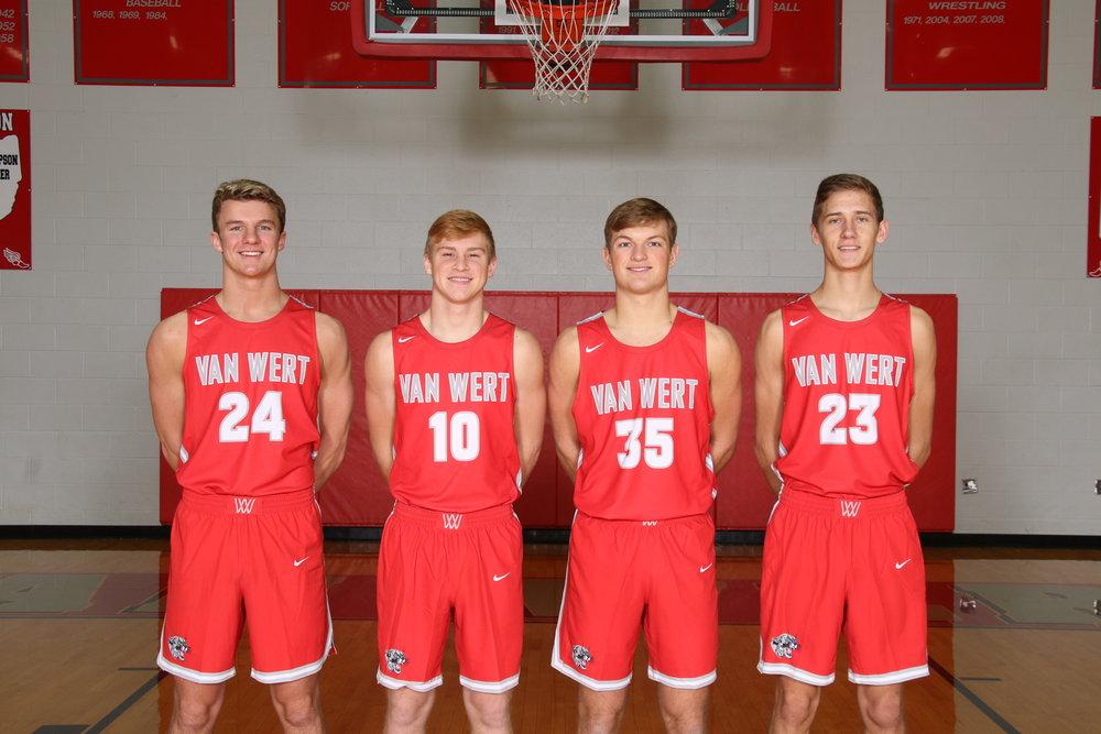 Senior Boys: Lawson Blackmore, Nate Place, Drew Bagley, Blake Henry
