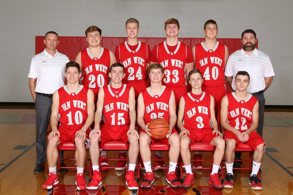 Left to Right: Row 1: Nathan Jackson, Keaton Brown, Kolby Barnhart, Ries Wise, Quinton Craig Row 2: Coach Miller, Parker Conrad, Evan Knittle, Colin Place, Spencer Adams, Coach Laudick