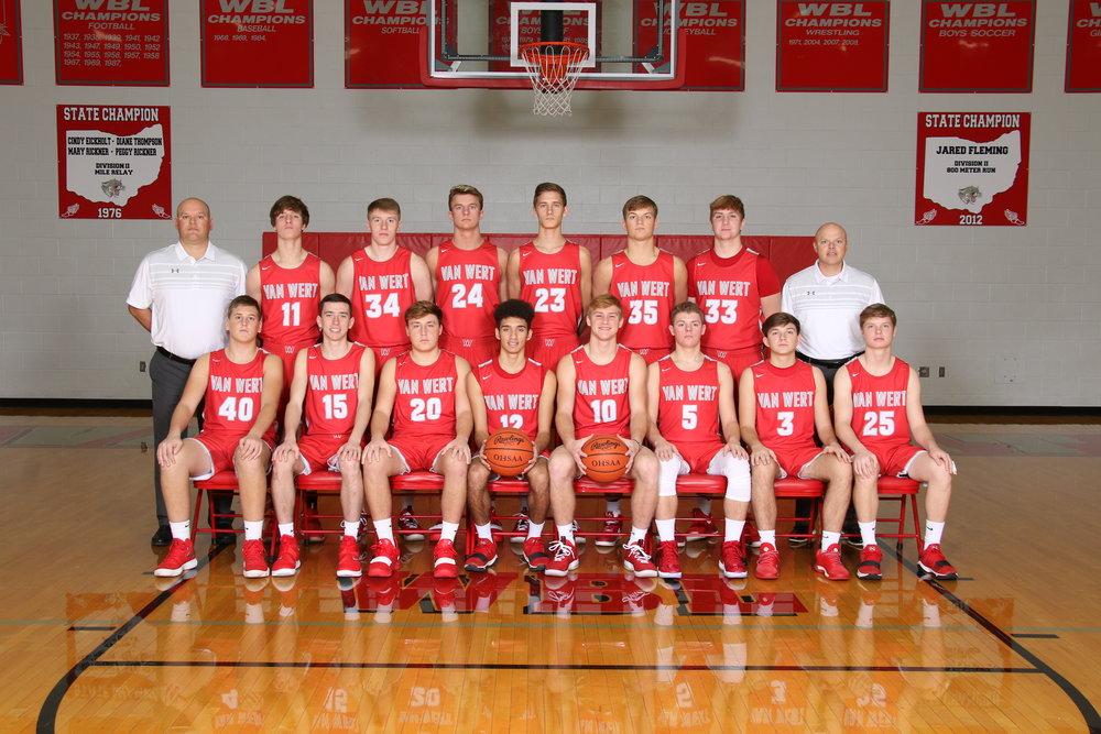 2018-2019 Boys basketball varsity team