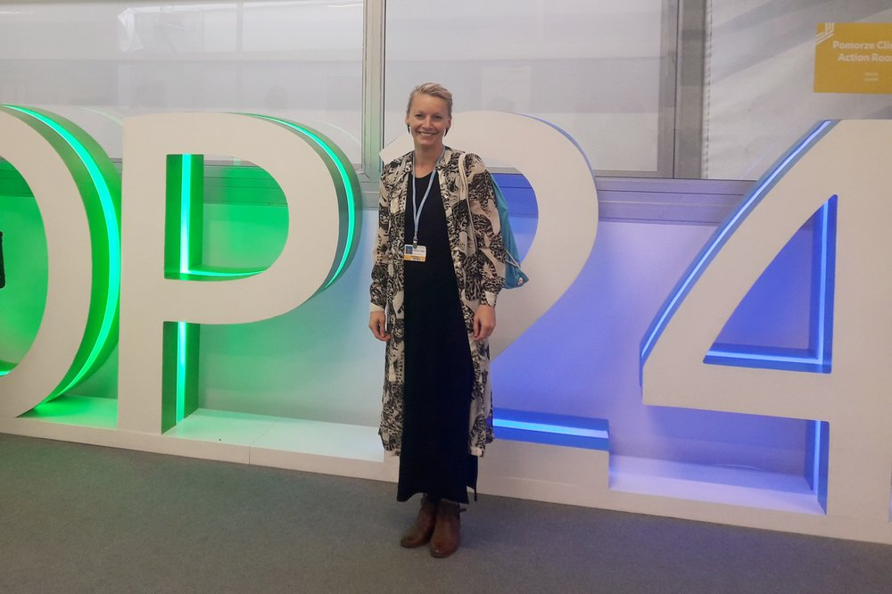 Ida Karlsson at COP24, the UN Climate Conference in Katowice, Poland