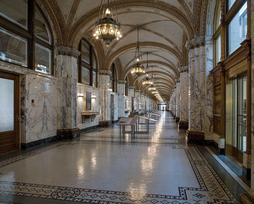 1st floor corridor, James R. Browning U.S. Court of Appeals Building, San Francisco, California  (C  arol M. Highsmith Archive, Library of Congress)