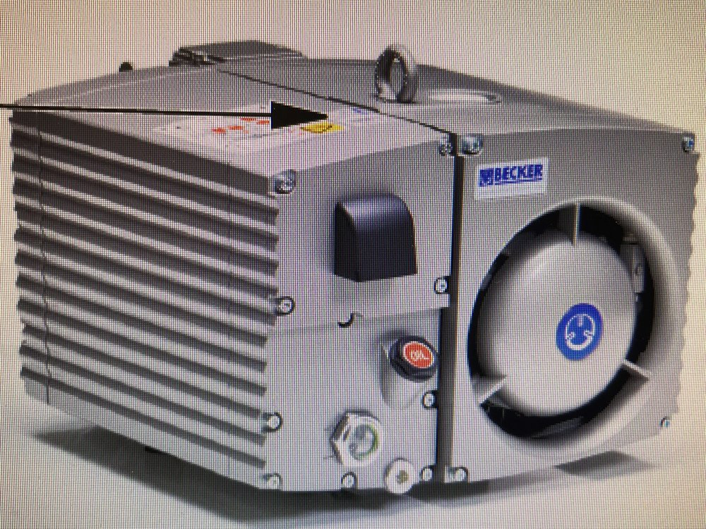 Becker U4.70SAK Used Vacuum Pump- 3HP/49CFM    1 in stock  Price: $2,500