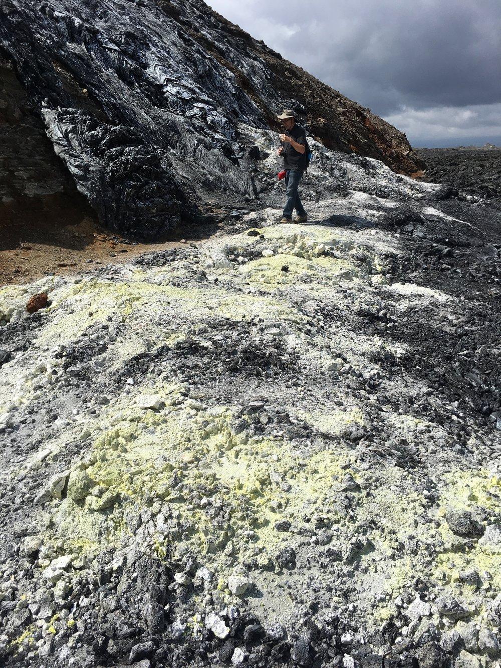 Sulfur rich landscape surrounding Kilauea