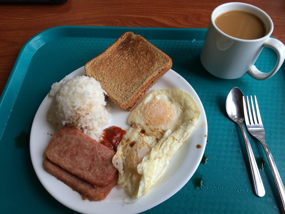 The most perfect breakfast ever - Kilauea Military Camp