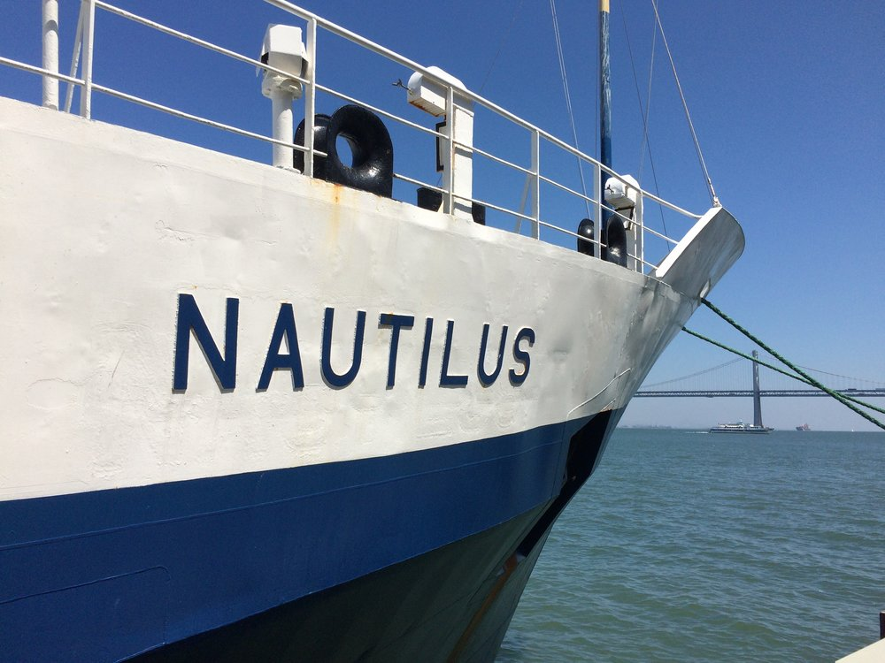 The lovely E/V Nautilus docked in San Francisco