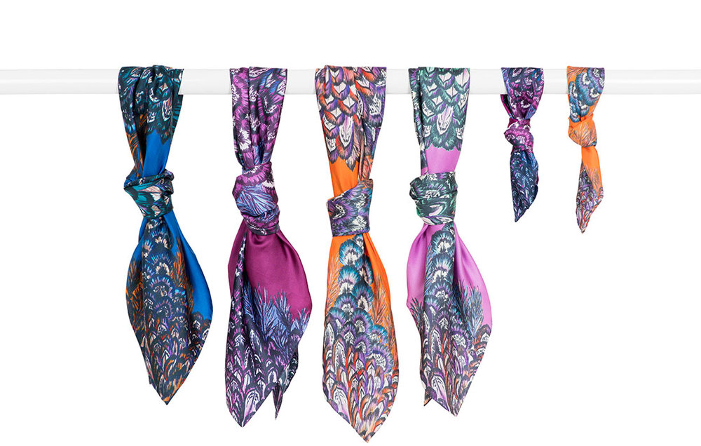 Colour Consultation for a luxury scarf collection,  Barjis