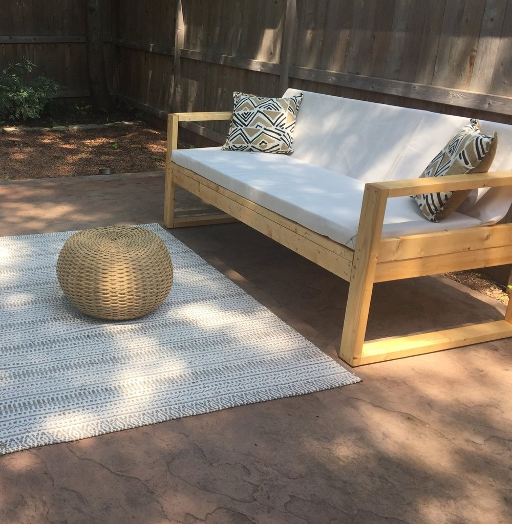 west elm patio furniture. I Combined The Look And Measurements Of West Elm Couch With Plans From Tutorials Watched This Is What Came Up With: Patio Furniture