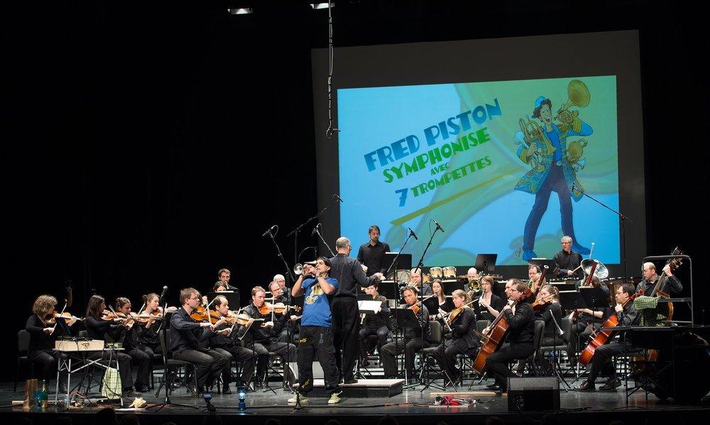 Fred Piston  avec l'Orchestre symphonique de l'École de musique de l'UdeS  (10 décembre 2017)