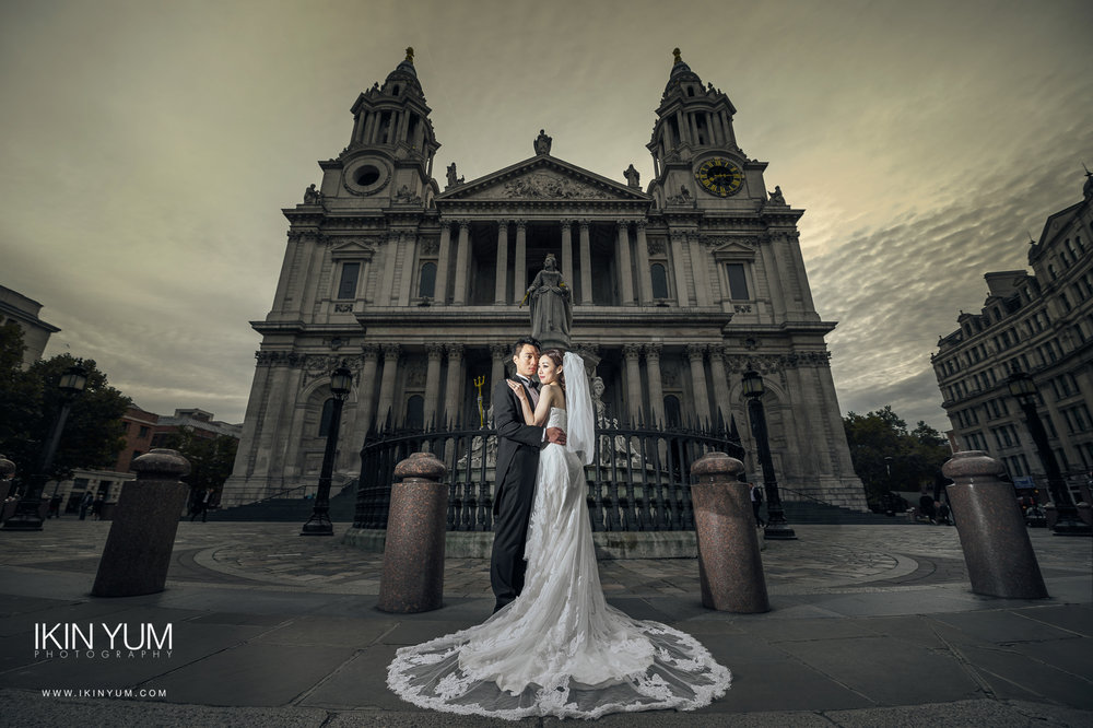London Pre-Wedding Shoot - St Paul - London -  英国伦敦婚纱摄影  - Chinese wedding Photographer