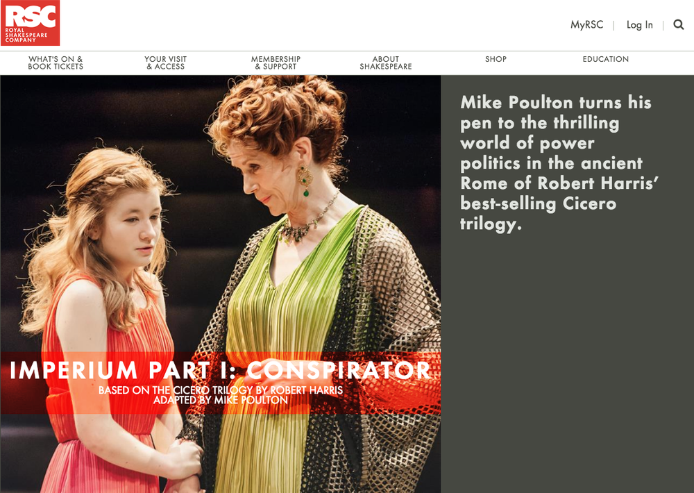 IMPERIUM Part I : Conspirator & Part II : Dictator - RSC Royal Shakespeare Company, Stratford