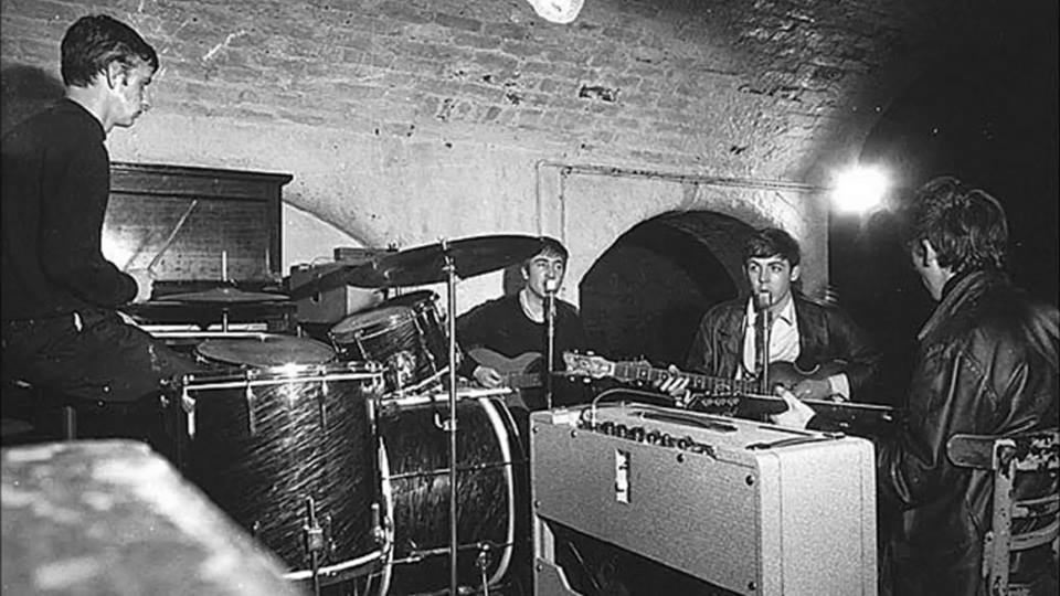 The Beatles in The Cavern Club - Photo from @CavernLiverpool