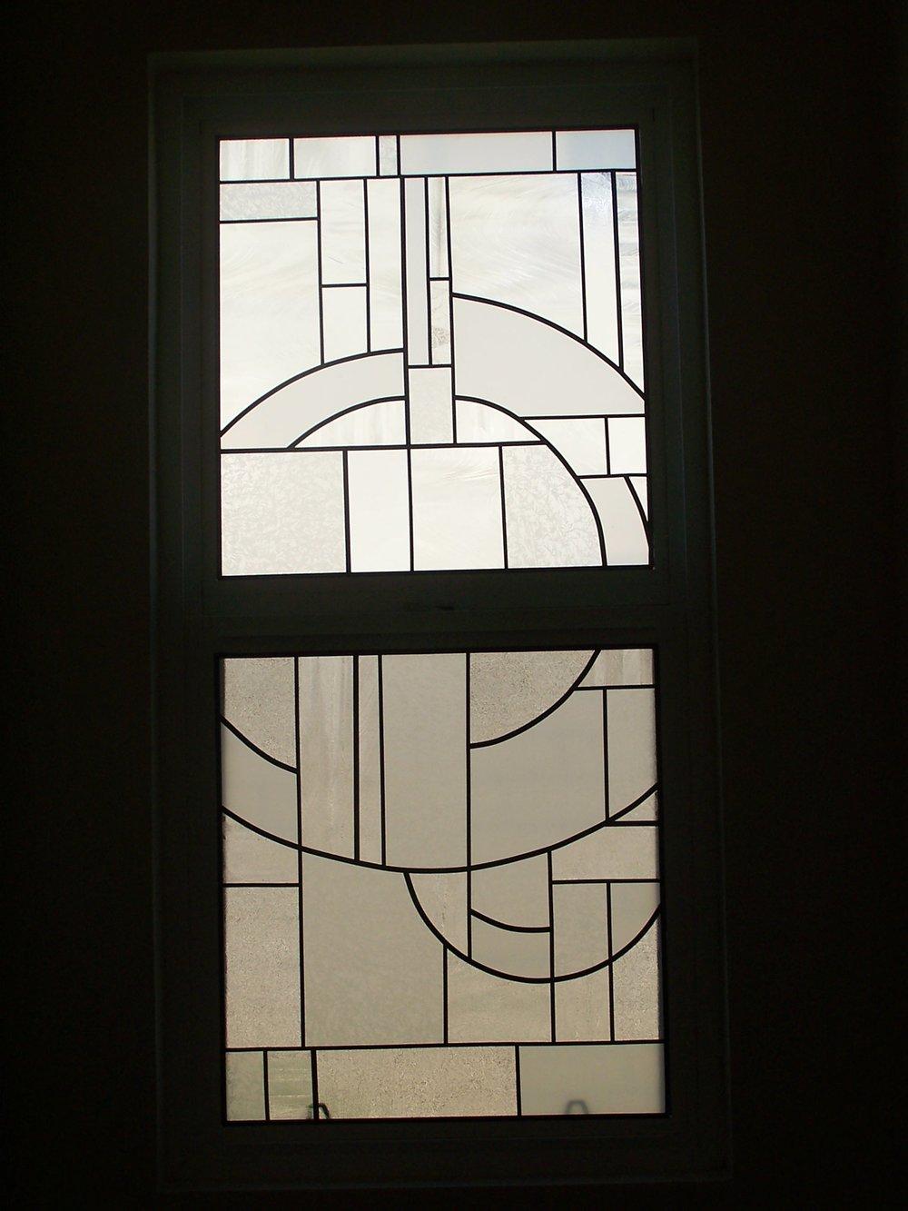 Geometric Art Deco Leaded Window