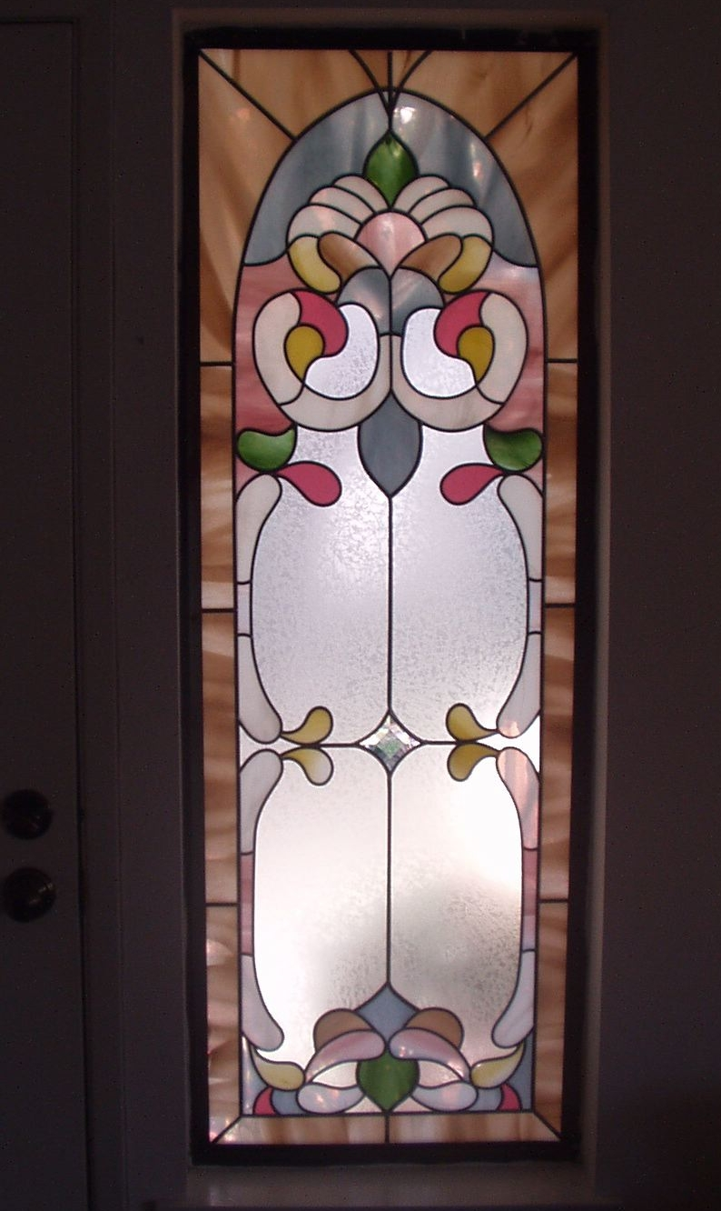 Single Window Stained Glass Overlay Warm Colors