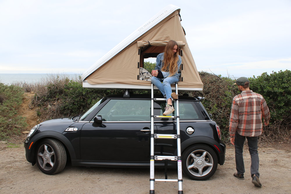 roof top tent mini cooper