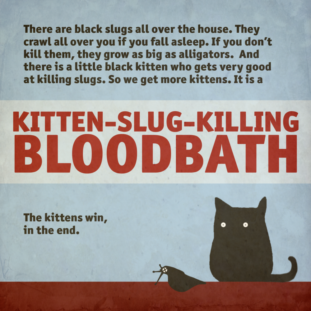 kittens vs slugs
