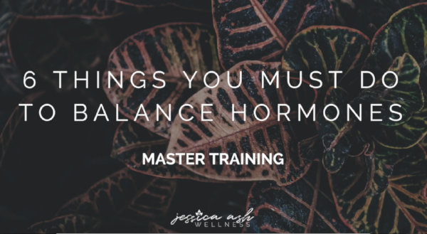 - Hormone 101 Master Training