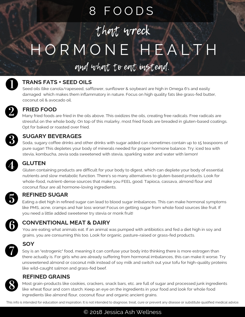 - hormone wrecking foods