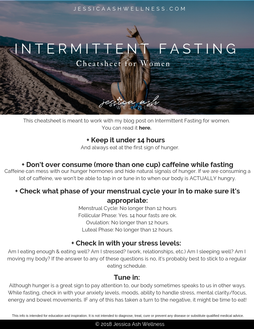 - Intermittent Fasting For Women Guide
