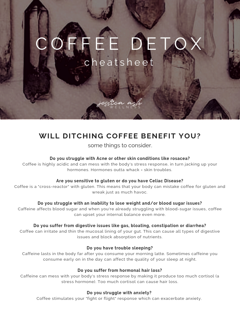 - Coffee detox cheatsheet