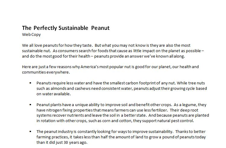 Sustainability Web Copy