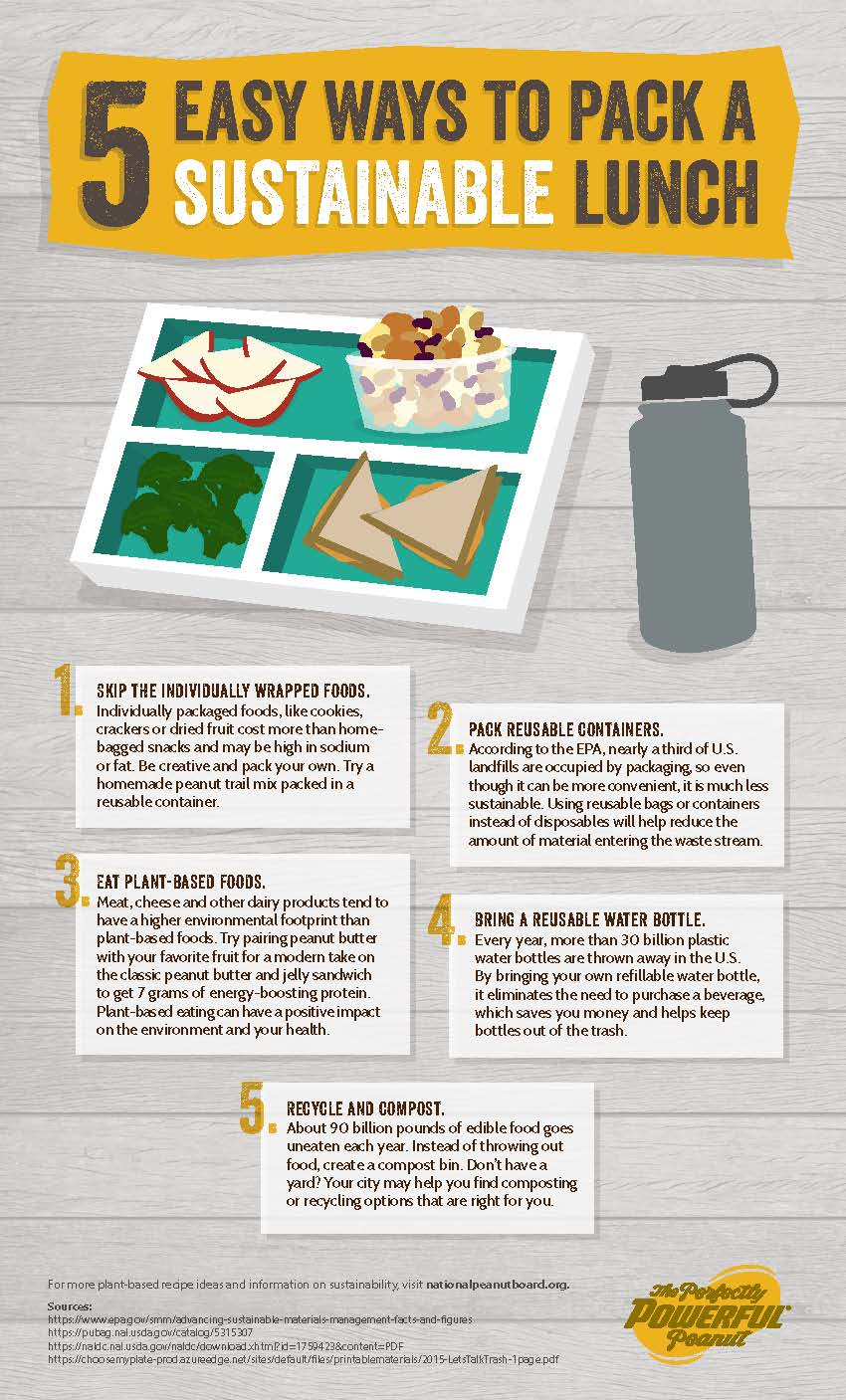 5 Easy Ways to Pack a Sustainable Lunch -Great for back to school!