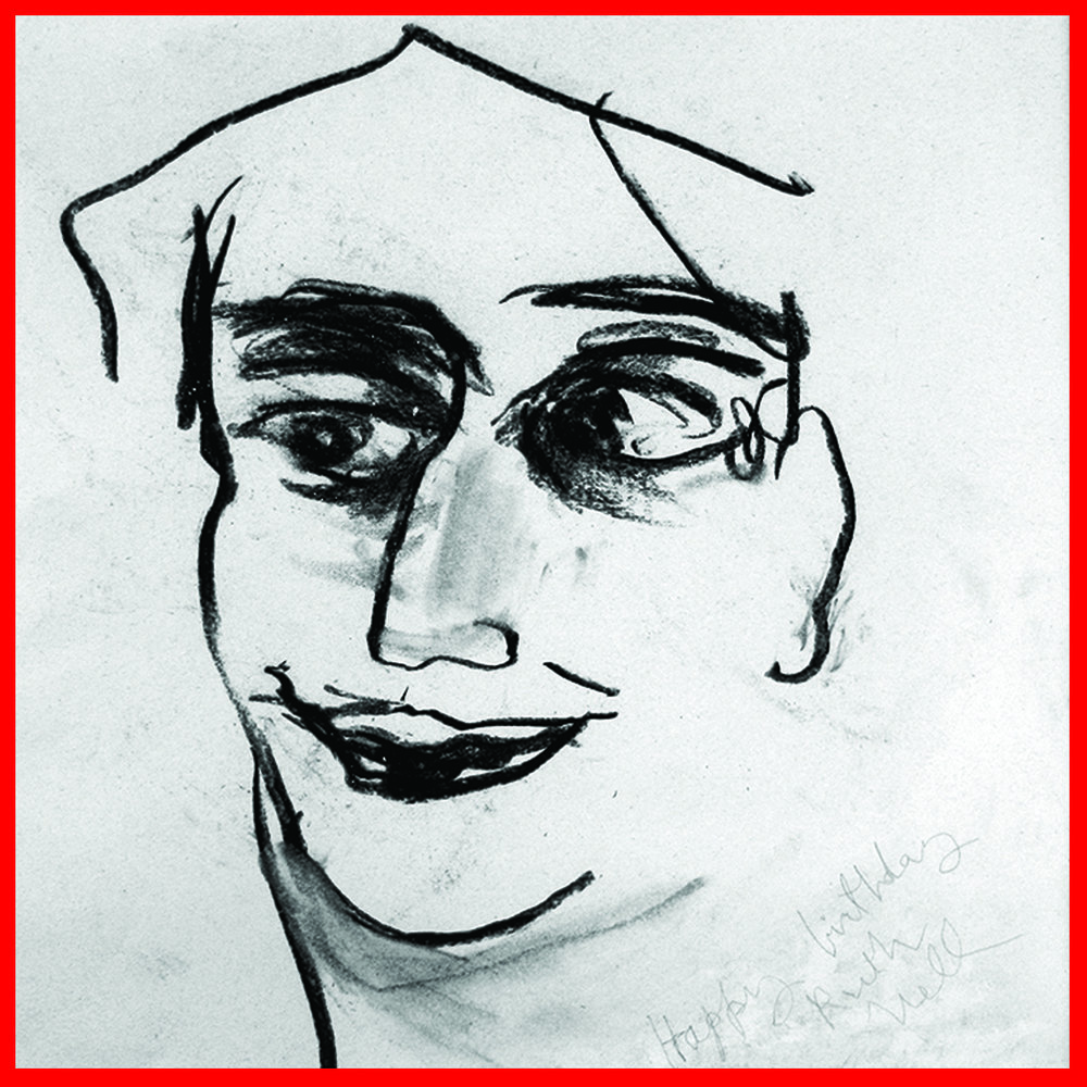 Nell Sinton,   Portrait of Ruth Braunstein , 1993, Charcoal on paper