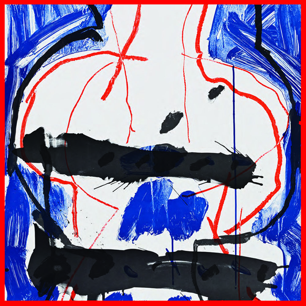 Peter Voulkos ,  Abstract VIII: I Got the Cobalt Blues,  1979, color lithograph, edition of 200, signed and dated, 32.5 x 24 in, CR182.0-Pr