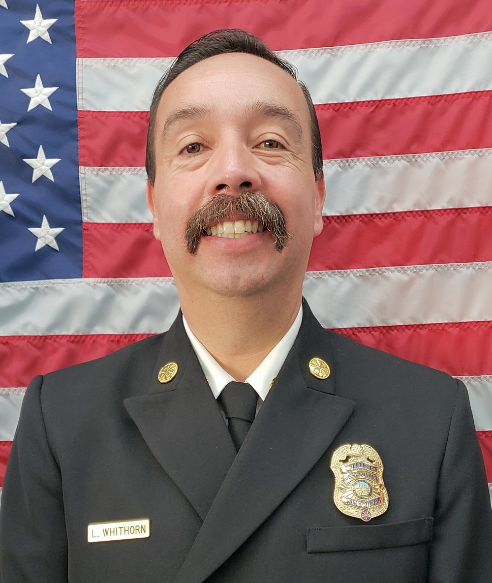 West Covina Fire Chief Larry Whithorn