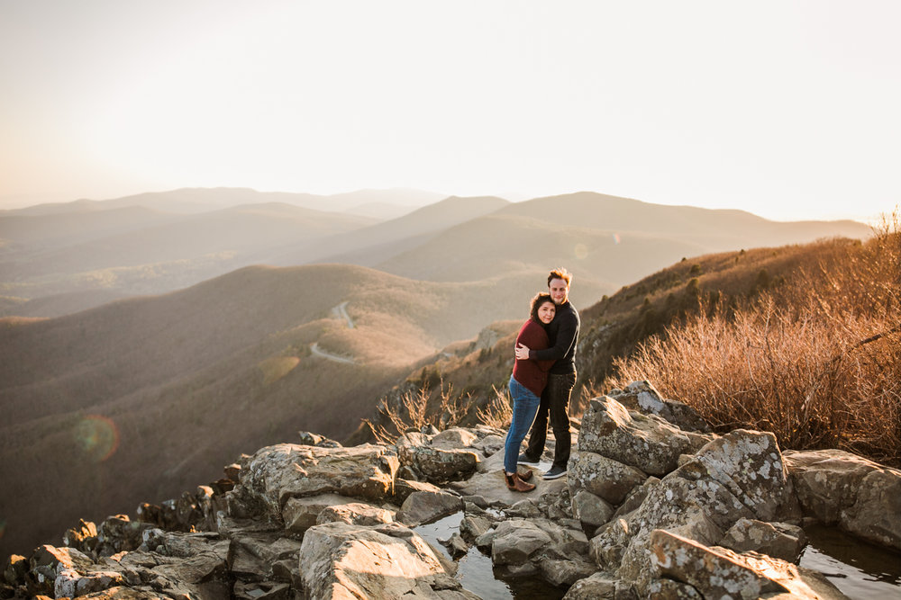 Skyline Drive Engagement, Shenandoah National Park engagement, Blue Ridge Parkway engagement, Adventure engagement, hiking engagement, adventure lifestyle photography, dc wedding photographer, dc adventure engagement, Washington DC adventure engagement, DC hiking engagement