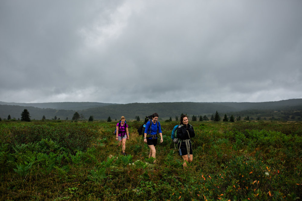 Hiking in Dolly Sods West Virginia, West Virginia adventure photographer, Dolly Sods adventures, rainy day adventures, rainy hike. A rainy backpacking trip at Dolly Sods, WV.