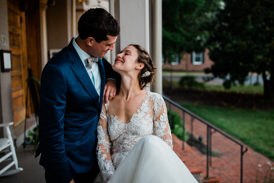 The Joshua Wilton House in Harrisonburg was the perfect venue for Colin and Isabelle's Intimate July wedding. The focus of their wedding was food, family and photos.
