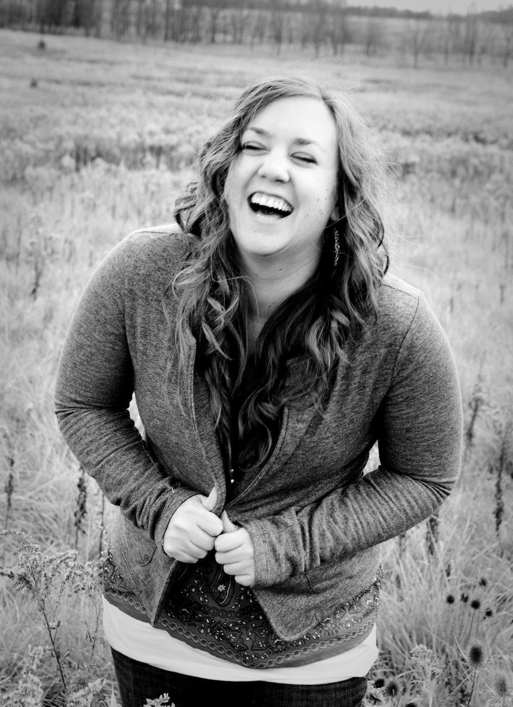 Amy Cox Field Laugh BandW.jpg