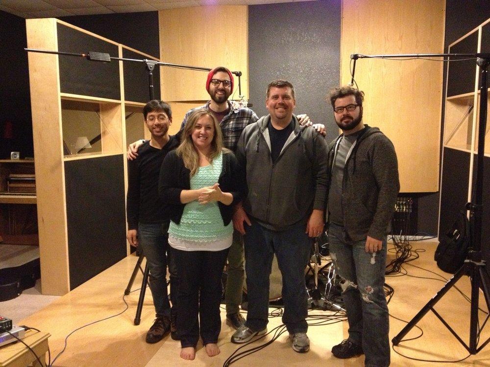 Amy Cox recording in studio.jpg
