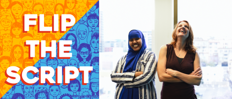 Flip the Script: The Future is Female promotional image. Left: Ismahan Abdullahi. Right: Nicole Capretz. (Credit: Flip the Script: The Future is Female)